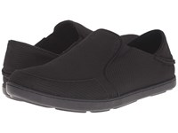 Olukai Nohea Mesh Onyx Onyx Men's Slip On Shoes Black