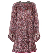 Etro Floral Printed Silk Dress Multicoloured