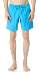 Moschino Solid Swim Trunks Blue Atoll