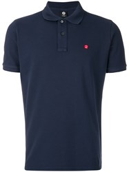 Aspesi Embroidered Patch Polo Shirt Blue