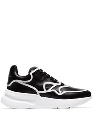 Alexander Mcqueen Black Contrast Trim Chunky Leather Low