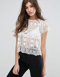 Goldie Harley Lace Top Ivory Cream