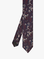 Ted Baker Wayve Floral Silk Tie Dark Red