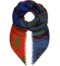 Loewe Falling Leaves Shawl Multicolour