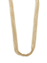 Eddie Borgo Ball Chain Fountain Necklace Gold