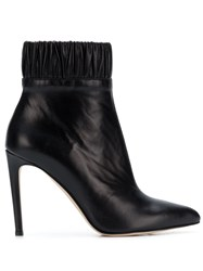 Chloe Gosselin Gathered Ankle Boots Black
