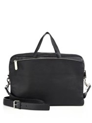 Dsquared Grainy Leather Briefcase Black