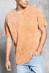 Forever 21 Acid Wash Knit Tee Rust