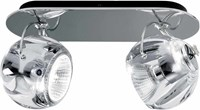 Fabbian Beluga Color Two Lights Wall Ceiling Light D57g23a00 Clear White Brown Blue
