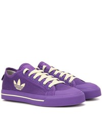 Raf Simons Matrix Spirit Low Canvas Sneakers Purple