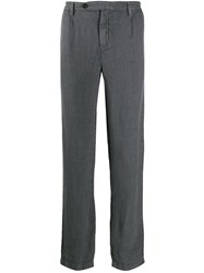 Massimo Alba Straight Leg Trousers Grey