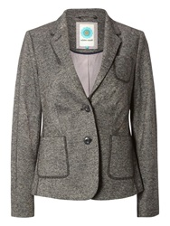 White Stuff Hamilton Heights Tweed Blazer Empire Grey
