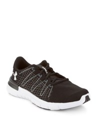 Under Armour Thrill Embroidered Athletic Sneakers Black White