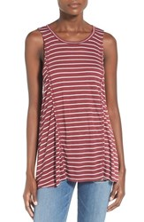 Women's Bp. Stripe Seamed Swing Tank Red Crdvn Tawny