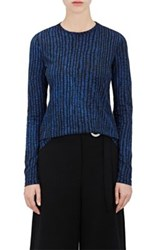 Proenza Schouler Women's Cotton Long Sleeve T Shirt Blue
