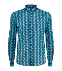 Vilebrequin Caracal Printed Shirt Male Blue