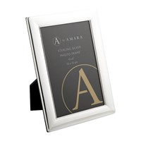 A By Amara Sterling Silver Multi Line Photo Frame 4X6