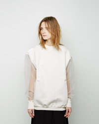 Marni Mesh Sleeve Sweater Diamante
