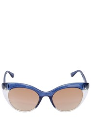 Italia Independent Glitter Glossy Cat Eye Sunglasses Blue