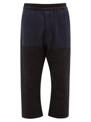 By Walid Marek Manillar Embroidered Panel Trousers Black