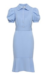 Ulyana Sergeenko Demi Couture Short Sleeve Shirt Dress Blue