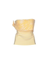 Andreaturchi Tube Tops Yellow