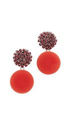 Marni Strass Clip On Earrings Red