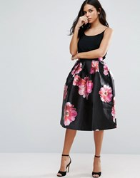 Jessica Wright Floral Prom Skirt Black