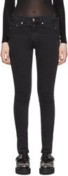 Mcq By Alexander Mcqueen Black Laced Harvey Jeans