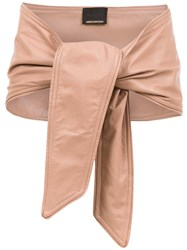Andrea Bogosian Leather Belt Nude And Neutrals