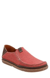 Clarksr Men's Clarks Trapell Form Slip On Red Canvas