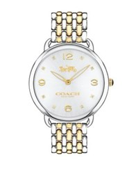 Coach Delancey Two Tone Stainless Steel Bracelet Watch