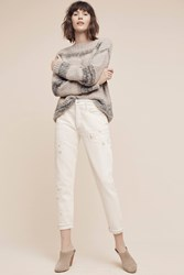 Anthropologie Citizens Of Humanity Liya Ultra High Rise Straight Jeans Ivory