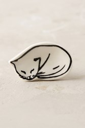 Leah Goren Cat And Dog Study Knobs Black White