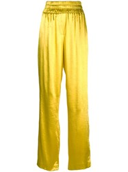 Cinq A Sept Kylie High Waisted Trousers Yellow