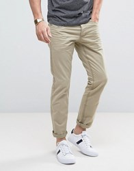Esprit 5 Pocket Casual Trousers In Camel Beige