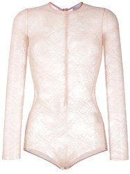 Red Valentino Sheer Lace Bodysuit 60