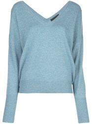 Nili Lotan Relaxed Fit Sweater Blue