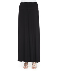 Neiman Marcus Fold Over Maxi Skirt Black