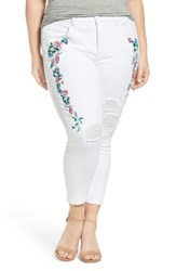 Melissa Mccarthy Seven7 Plus Size Women's Embroidered Ankle Pencil Leg Jeans