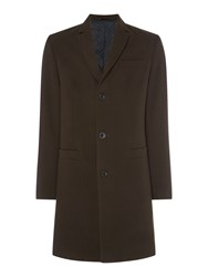 Linea Men's Holborn Wool Epsom Coat Khaki