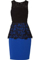 Noir Sachin And Babi Carolina Lace Stretch Cady Dress Royal Blue