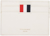 Thom Browne Ivory Leather Card Holder