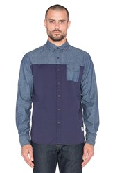 Penfield Holdridge Contrast Chambray Button Up Navy