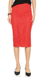 Bb Dakota Nadia Lace Pencil Skirt Blaze