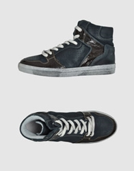 Keep High Top Sneakers Dark Blue