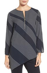 Chaus Women's Mixed Media Stripe Top