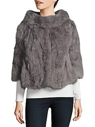 La Fiorentina Cropped Fur Jacket Grey