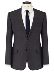 John Lewis Kin By Arcola Textured Slim Fit Suit Jacket Charcoal