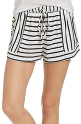 Kensie Women's Lounge Shorts White Stripe